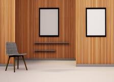 Silla mínima del espacio y arte mínimo del marco Fotografía de archivo