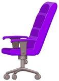 Silla púrpura del ordenador con las ruedas libre illustration