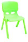 Silla plástica verde Fotografía de archivo