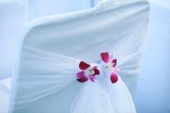 Silla puesta para casarse Imagen de archivo libre de regalías