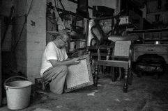 Silla que teje tradicional foto de archivo libre de regalías