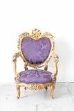 Silla real púrpura Imagen de archivo libre de regalías
