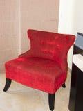 Silla roja Imágenes de archivo libres de regalías