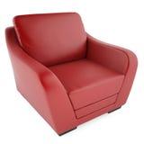 silla roja 3D en un fondo blanco Imágenes de archivo libres de regalías