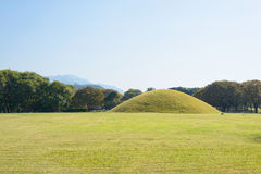Silla tombs in Gyeongju Royalty Free Stock Image