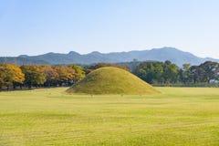 Silla tombs in Gyeongju Royalty Free Stock Photos