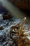 Silla vieja en luz Fotos de archivo libres de regalías