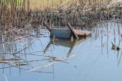 Silla vieja en un pantano Imagen de archivo libre de regalías