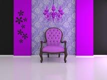 Silla violeta Imagen de archivo libre de regalías