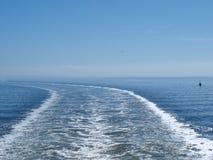 Sillage d'un bateau Images stock