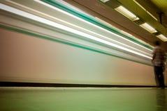 Sillage d'un métro Image libre de droits