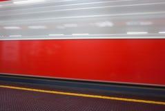 Sillage d'un métro Image stock