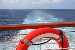 Sillage de bateau de croisière Photographie stock