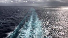 Sillage de ` de bateaux de croisière banque de vidéos