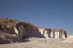 Sillar-Steinsteinbruch in Arequipa Peru Stockfotografie