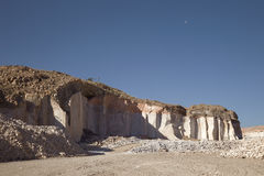 Sillar stone quarry in Arequipa Peru. stock photography
