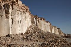 Sillar stone quarry in Arequipa Peru. Royalty Free Stock Photos