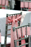Sillas adornadas de la recepción Imagen de archivo libre de regalías