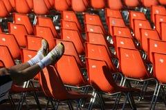 Sillas anaranjadas Fotos de archivo libres de regalías