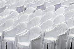Sillas blancas Fotografía de archivo