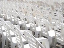 Sillas blancas Imagen de archivo