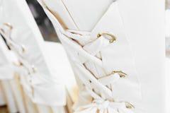 Sillas blancas de lujo Imágenes de archivo libres de regalías