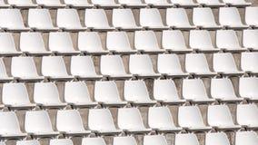 Sillas blancas vacías del estadio. Fotos de archivo libres de regalías
