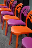 Sillas coloridas Foto de archivo