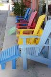 Sillas coloridas Imagenes de archivo