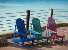 Sillas coloridas del verano Imagenes de archivo