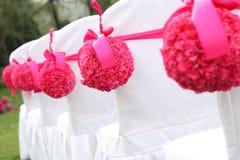 Sillas de la boda Fotografía de archivo libre de regalías