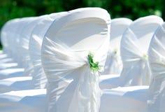 Sillas de la boda Foto de archivo