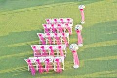 Sillas de la boda Imágenes de archivo libres de regalías