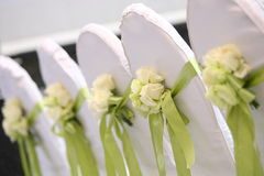 Sillas de la boda fotos de archivo libres de regalías