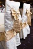 Sillas de la boda de la recepción Fotos de archivo libres de regalías