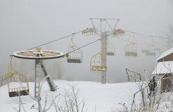Sillas de la elevación de esquí Fotos de archivo