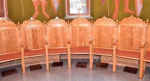 Sillas de la iglesia Foto de archivo libre de regalías