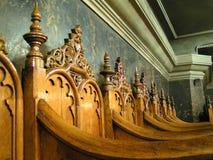 Sillas de la iglesia Imágenes de archivo libres de regalías