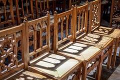 Sillas de la iglesia Imagenes de archivo
