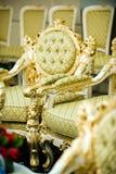 Sillas de lujo en sitio de recepción Imágenes de archivo libres de regalías