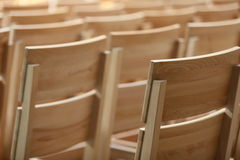 Sillas de madera Imagen de archivo libre de regalías