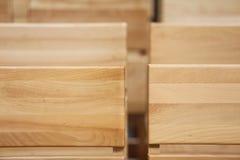 Sillas de madera Foto de archivo libre de regalías