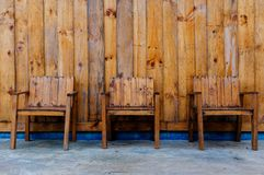 Sillas de madera Fotografía de archivo