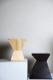 Sillas de madera del diseño Fotos de archivo