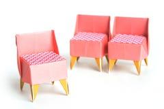 Sillas de Origami Imagenes de archivo
