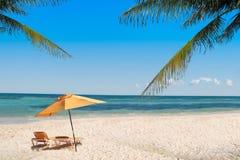 Sillas de playa Fotografía de archivo