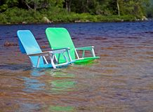 Sillas de playa Imagen de archivo libre de regalías