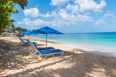 Sillas de playa del Caribe Fotografía de archivo