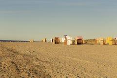 Sillas de playa en la playa Fotos de archivo libres de regalías