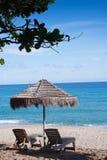 Sillas de playa hermosas Foto de archivo